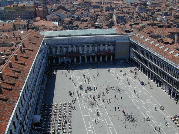 Piazza San Marco vista de cima